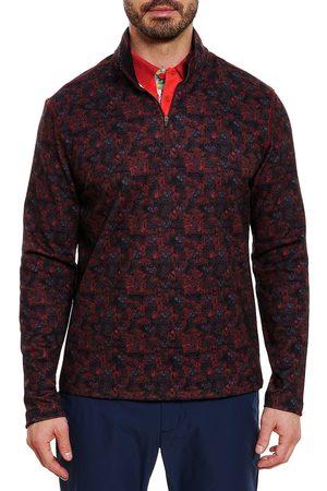 Robert Graham Floral Skull Quarter-Zip Sweater