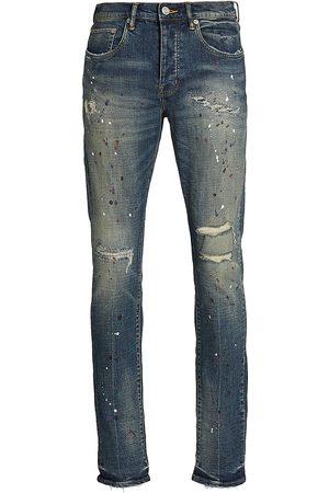 Purple Brand Paint Splatter Skinny Jeans