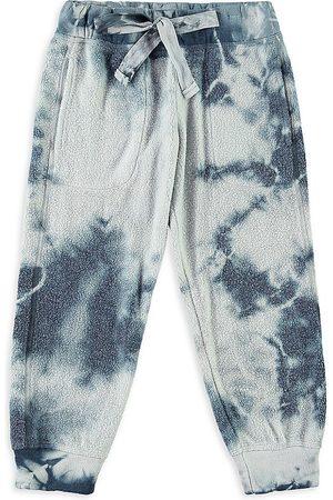 Bella Dahl Little Girl's & Girl's Fuzzy Fleece Tie Dye Sweatpants