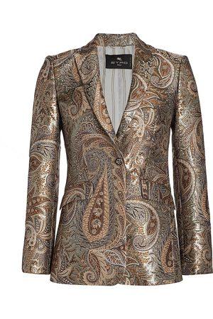 Etro Women Blazers - Metallic Brocade Jacket