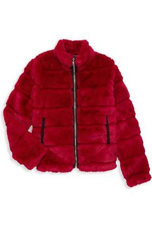 Mia Girl's Faux Fur Puffer Jacket