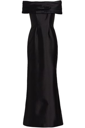 Catherine Regehr Off-The-Shoulder Bow Gown