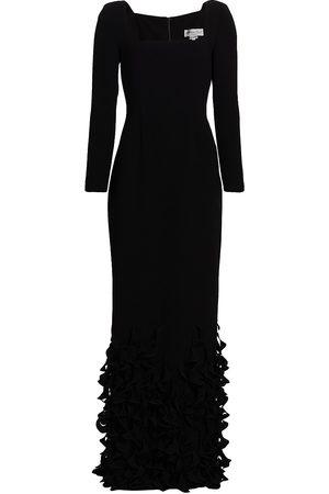 Catherine Regehr Spiral Hem Sheath Gown