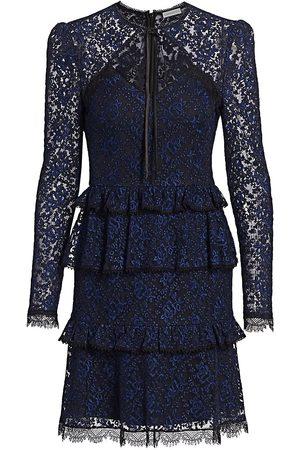 Ml Monique Lhuillier Women Evening dresses - Tie-Neck Lace Dress