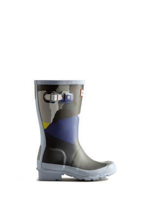 Hunter Big Kids Glacial Camo Rain Boots