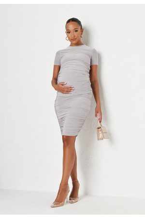 Missguided Slinky Tie Back Maternity Midaxi Dress