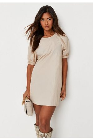 Missguided Women Dresses - Stone Puff Sleeve Smock Dress