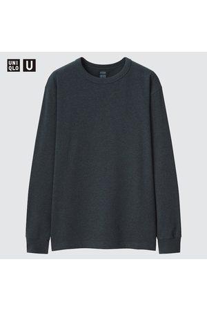 UNIQLO Men's U HEATTECH Cotton Crew Neck Long-Sleeve T-Shirt, , XXS