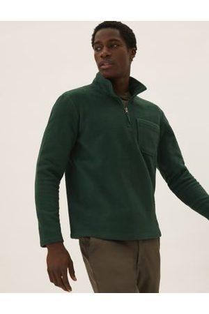 M&S Collection Recycled Half Zip Polar Fleece Top