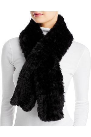 Surell Faux Fur Knit Pull Through Scarf - 100% Exclusive