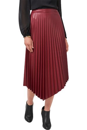 Vince Camuto Asymmetric Hem Faux Leather Skirt