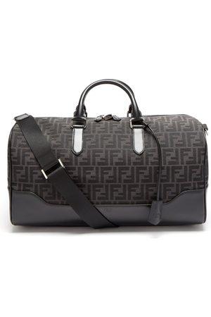Fendi Men Travel Bags - Ff-logo Jacquard Leather-trim Canvas Holdall - Mens