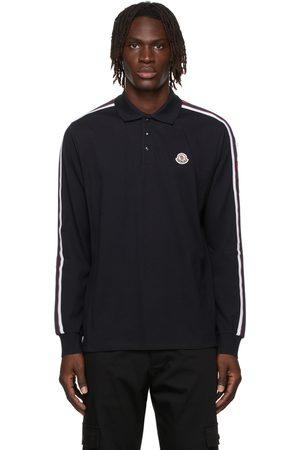 Moncler Cotton Logo Long Sleeve Polo