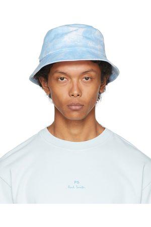 Paul Smith White & Blue Dip-Dye Bucket Hat