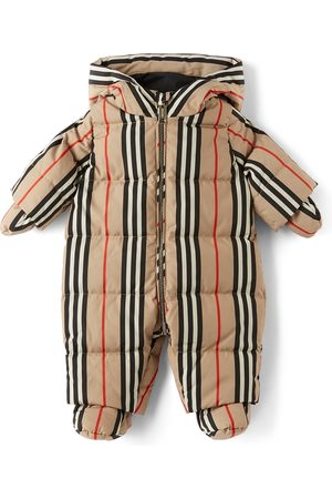 Burberry Baby Down Icon Stripe N6-River Puffer Snowsuit