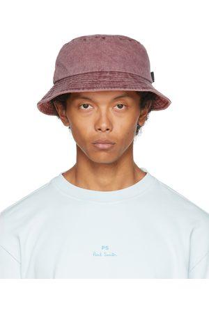 Paul Smith Burgundy Denim Bucket Hat