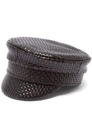 Ruslan Baginskiy Woven-leather Baker Boy Cap - Womens