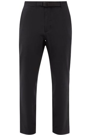 GOLDWIN Belted Stretch-twill Chinos - Mens