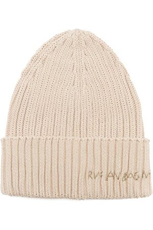 Ruslan Baginskiy Logo-embroidered Ribbed Cotton Beanie Hat - Womens