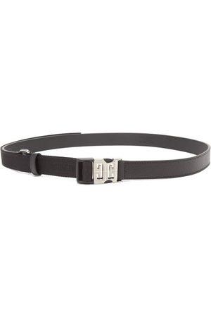 Givenchy Men Belts - 4g-buckle Leather And Grosgrain Belt - Mens
