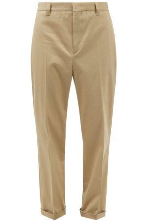 Nanushka Men Skinny Pants - Jun Slim-leg Cotton-blend Cavalry-twill Trousers - Mens