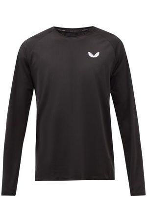 CASTORE Logo-print Technical-mesh Long-sleeved T-shirt - Mens