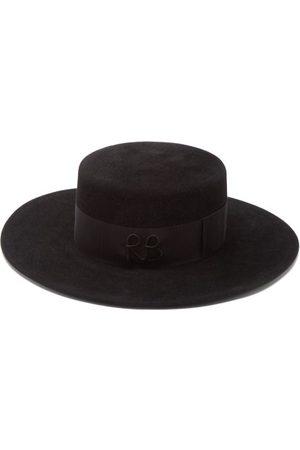 Ruslan Baginskiy Women Hats - Felt Boater Hat - Womens