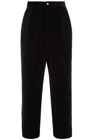 NICK FOUQUET Tacito Pleated Cotton-velvet Trousers - Mens