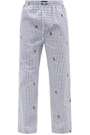 Polo Ralph Lauren Bear-logo Check Cotton-twill Pyjama Trousers - Mens - Multi