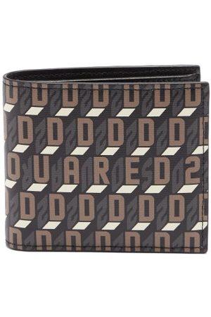 Dsquared2 Monogram-print Faux-leather Bifold Wallet - Mens - Multi