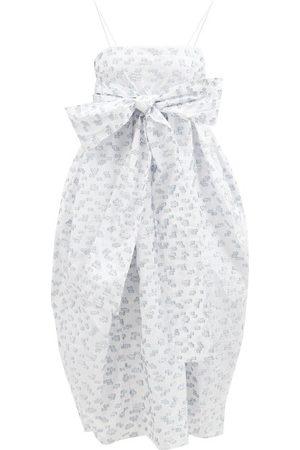 Cecilie Bahnsen Jilly Sash-waist Floral Fil Coupé Dress - Womens - Multi