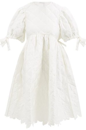 Cecilie Bahnsen Jean Amarylis Cutout-back Quilted Satin Dress - Womens - Ivory