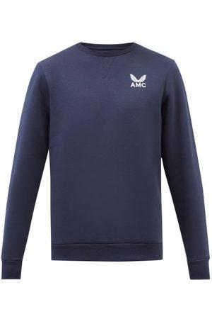 CASTORE Amc-embroidered Cotton-blend Jersey Sweatshirt - Mens - Navy