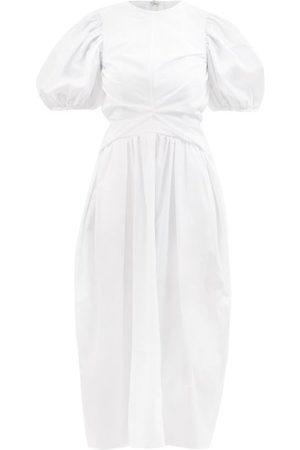 Cecilie Bahnsen Juniper Puff-sleeve Organic-cotton Dress - Womens