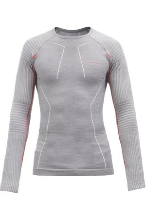 Falke Men Long Sleeve - Wool-tech Wool-blend Jersey Long-sleeved T-shirt - Mens - Grey