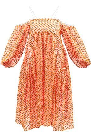 Cecilie Bahnsen Jamilla Off-the-shoulder Cherry-embroidered Dress - Womens - Multi