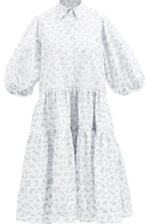 Cecilie Bahnsen Amy Gathered Cotton-poplin Dress - Womens - Multi
