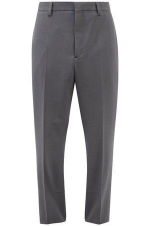 Nanushka Jun Twill Slim-leg Trousers - Mens - Dark Grey