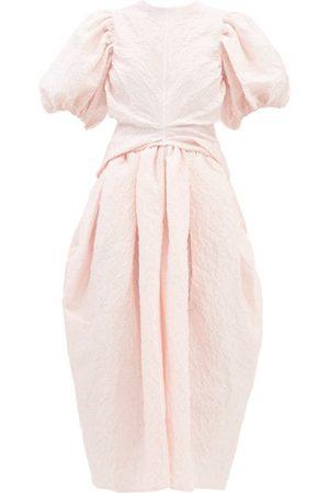 Cecilie Bahnsen Juniper Linen-blend Jacquard Dress - Womens - Light