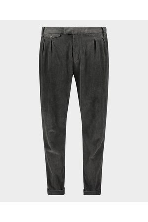 Paul & Shark Men Stretch Pants - Trousers with double fold in cotton stretch velvet