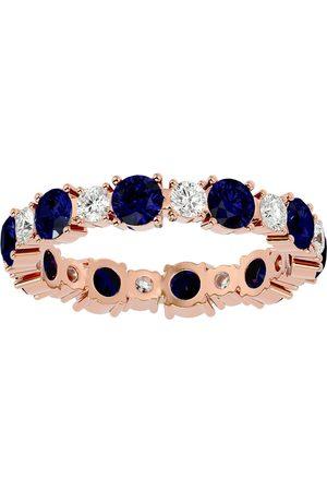 SuperJeweler 14K (3.30 g) 2 1/4 Carat Sapphire & Diamond Eternity Ring (