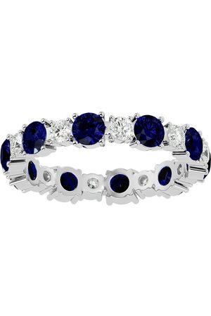 SuperJeweler 14K (2.50 g) 2 Carat Sapphire & Diamond Eternity Ring (