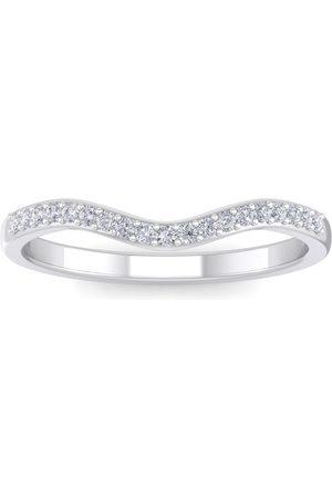 SuperJeweler Women Rings - 1/4 Carat Diamond Matching Wedding Band Ring in JWL45433 (