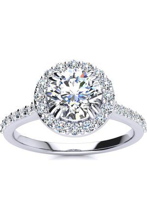 SuperJeweler 1.25 Carat Halo Diamond Engagement Ring in (
