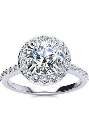 SuperJeweler 2 Carat Halo Diamond Engagement Ring in (