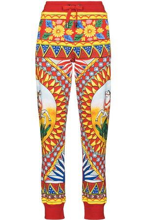 Dolce & Gabbana Women Sweatpants - Caretto print jogging trousers