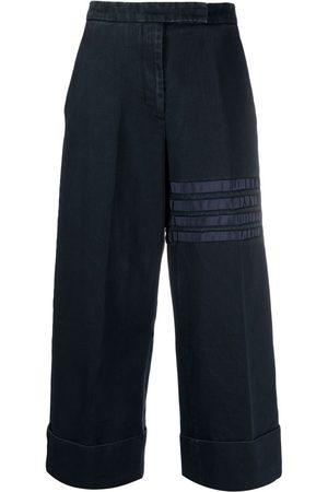 Thom Browne Women Pants - 4-Bar stripe cropped trousers