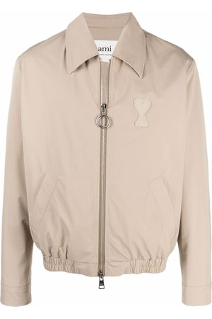 Ami Men Jackets - Buttoned shirt jacket - Neutrals
