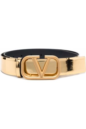 VALENTINO GARAVANI Women Belts - VLogo Signature buckle belt - Neutrals