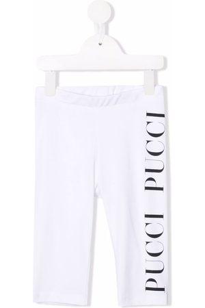 Emilio Pucci Girls Leggings - Logo-print cotton leggings